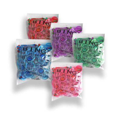 Bingo Accessories various bags of colored bingo chips