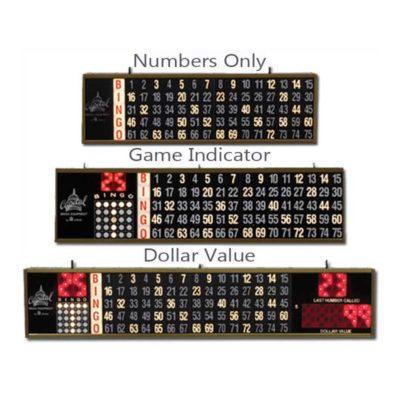 Various sizes of bingo flashboards