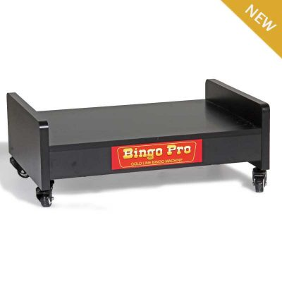 Rolling Cabinet Bingo Machine Stand Designed to Hold our Portable Tabletop Bingo Machines.