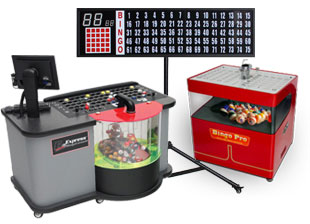 Bingo machines, consols and flash boards