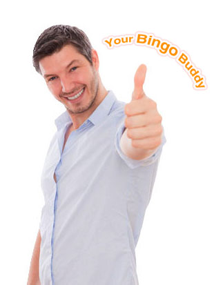 the bingo buddy guy with his thumb up for good service