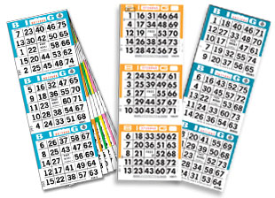 Choose from various bingo paper styles.