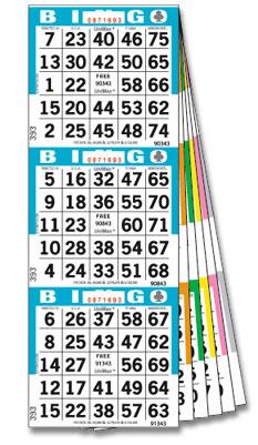 Bingo Cards & Paper showing a book of Bingo paper