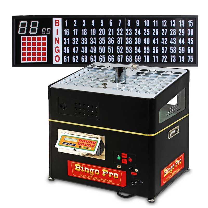 black verifying bingo mini system with direct cabled portable 5ft flashboard and set of balls