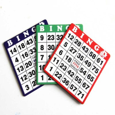 various colors of bingo economy cards