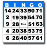Bingo Face Card Bingo Cards & Paper