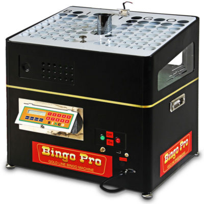Gold line bingo machine with built-in verifier.