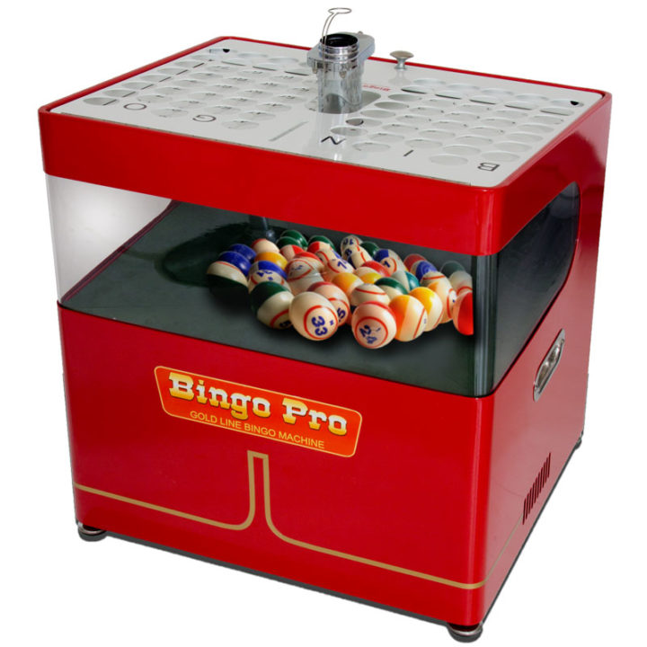 red mid priced Bingo Machine