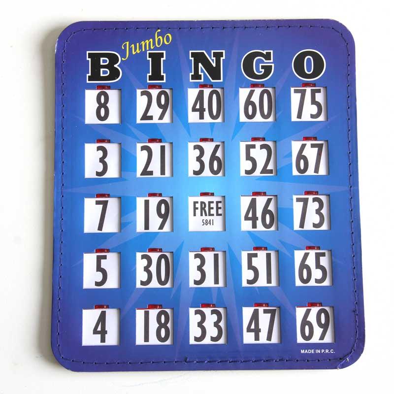 Jumbo bingo shutter card
