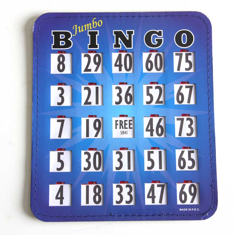 Bingo Shutter Card Packs Jumbo 8″x9″ From $3.59/card