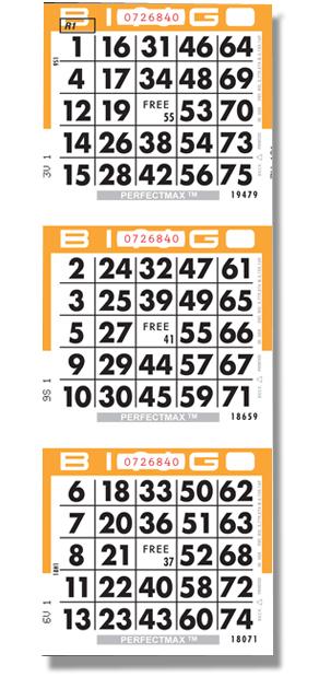 Bingo cards & paper Perfectmax bingo paper Bingo paper types