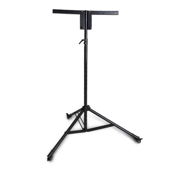 Collapsible bingo Flashboard Stand, Tripod style on wheels.