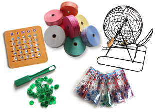image of various bingo accessories