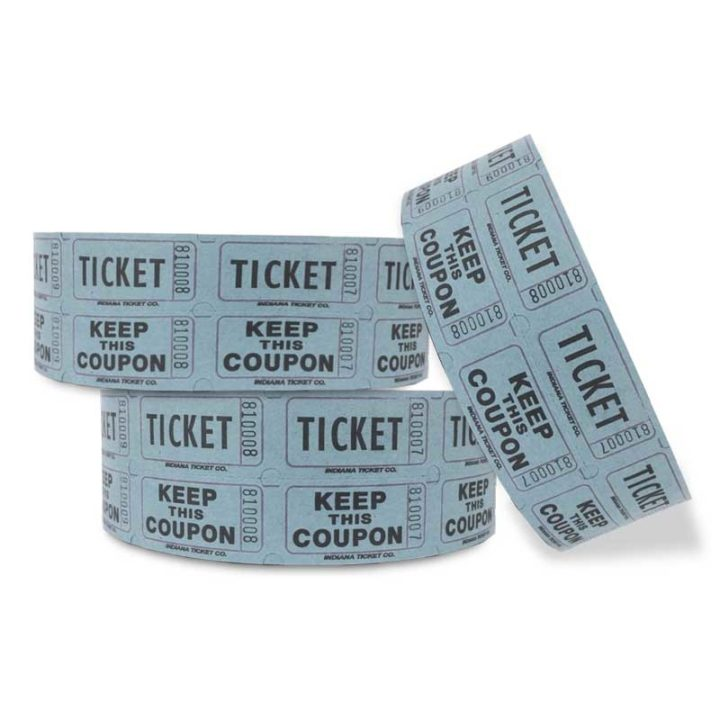 blue penny roll tickets