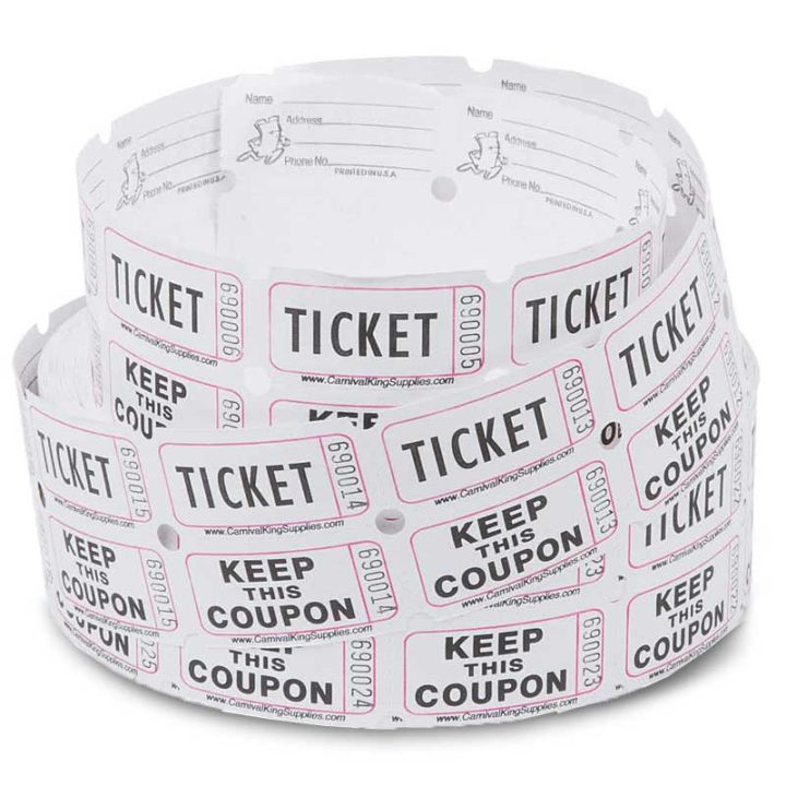 white penny roll tickets