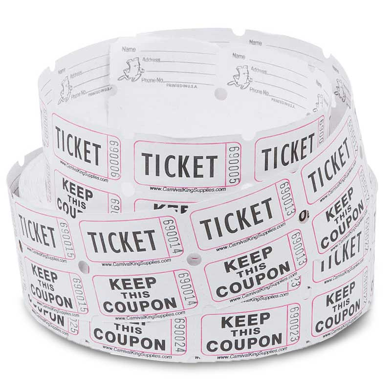 Double Roll Coupon Raffle Tickets