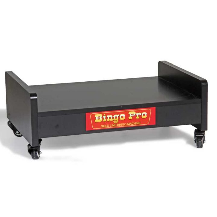 Lowrider portable bingo machine stand on heavy duty castors